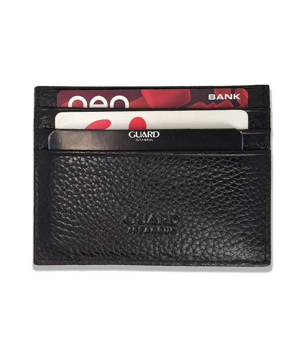 Guard Wallet Blocking Genuine Leather