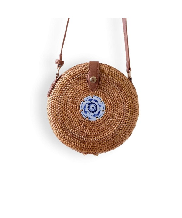 Indiana Jane Rattan Crossbody Ceramic