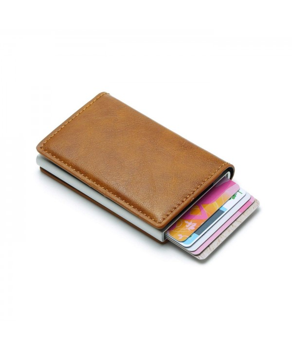 Lanxi Blocking Leather Credit Holder