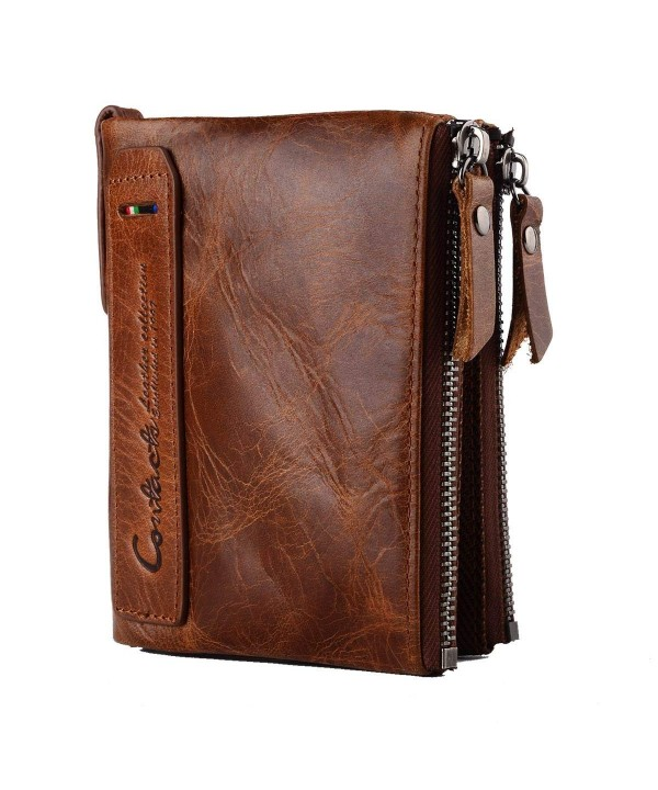 Genuine Leather Bifold Wallet Vintage