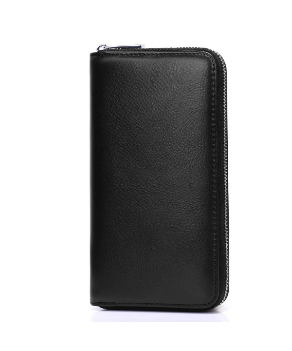 S ZONE Blocking Wallet Leather Capacity