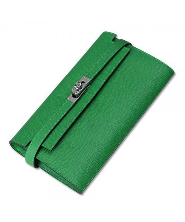F BLUE Genuine Leather Padlock Handbag