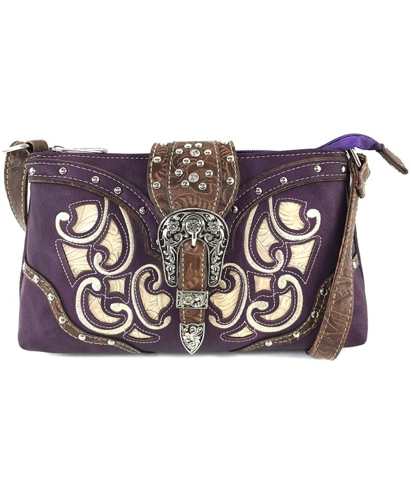 Justin West Rhinestone Messenger Crossbody