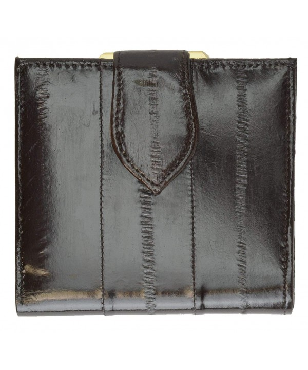 French Frame Leather Ladies Wallet