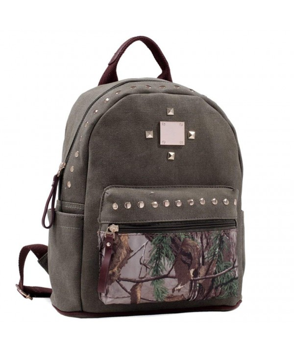Dasein Realtree Studded Camouflage Backpack