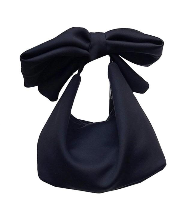 Womens Leather Crossbody Bowknot Handbag