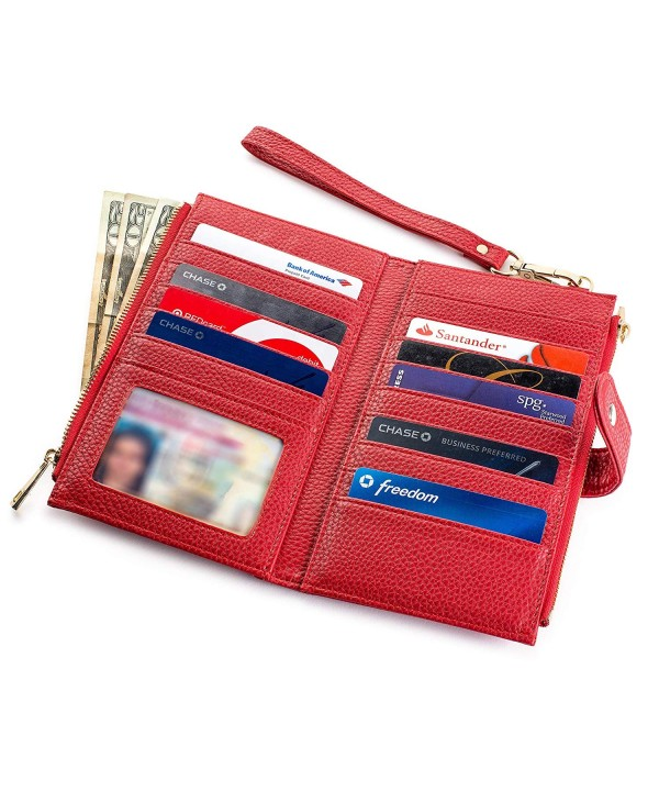 Womens Luxury Blocking Bifold Wallet