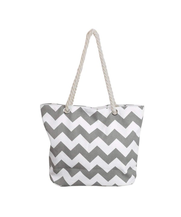 Premium Chevron Canvas Shoulder Handbag