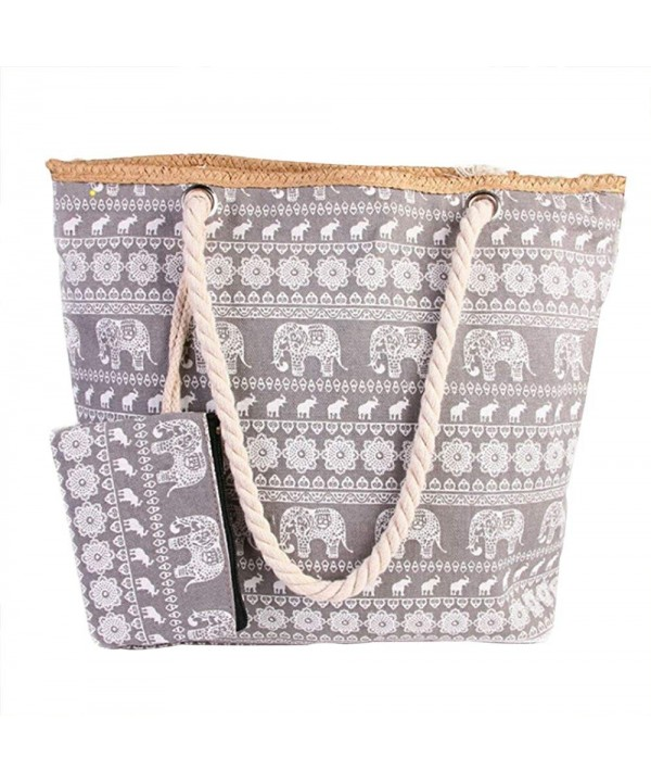 Pulama Shoulder Striped Handbag Elephant