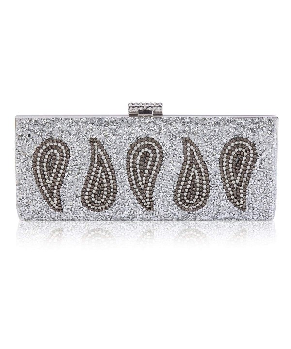 Damara Droplets Pattern Rhinestone Evening