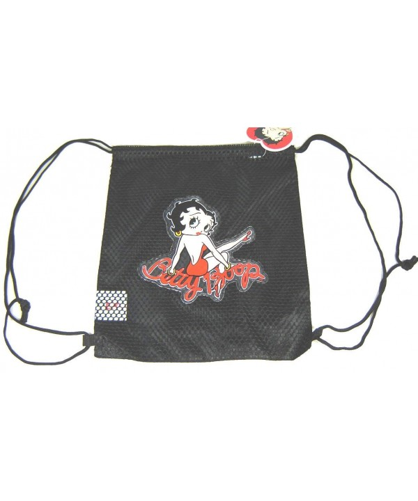 Betty Boop Drawstring Net Black