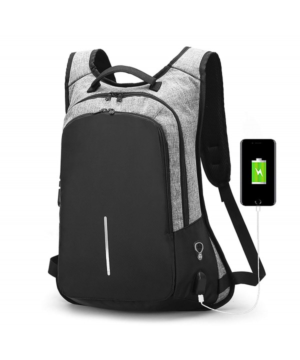 Anti Theft Backpack Backpacks Headphone JSS11_Grey