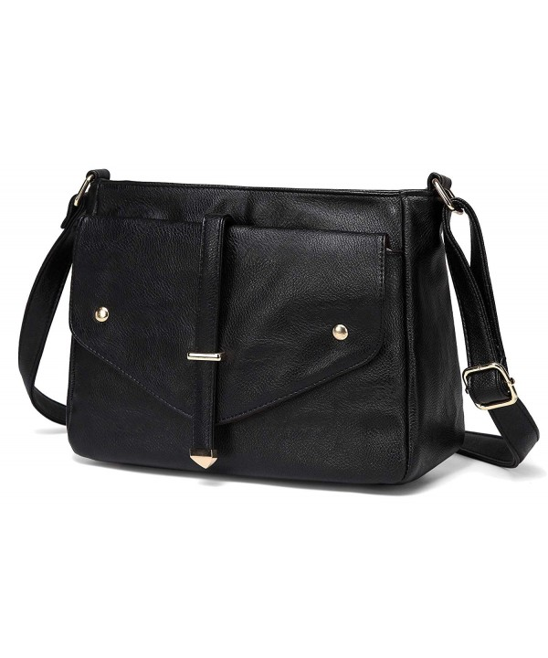 9abde04b4a3e ... Shoulder Bag - Black - C718GYCR522. On sale! New. Crossbody VASCHY  Leather Fashion Shoulder