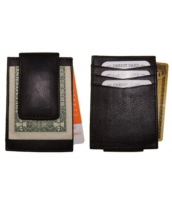 Wallets Leather Magnetic Credit Wallet