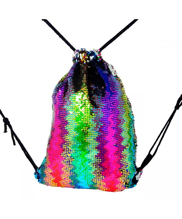 Mermaid Sequin Drawstring Backpack Multicolor1