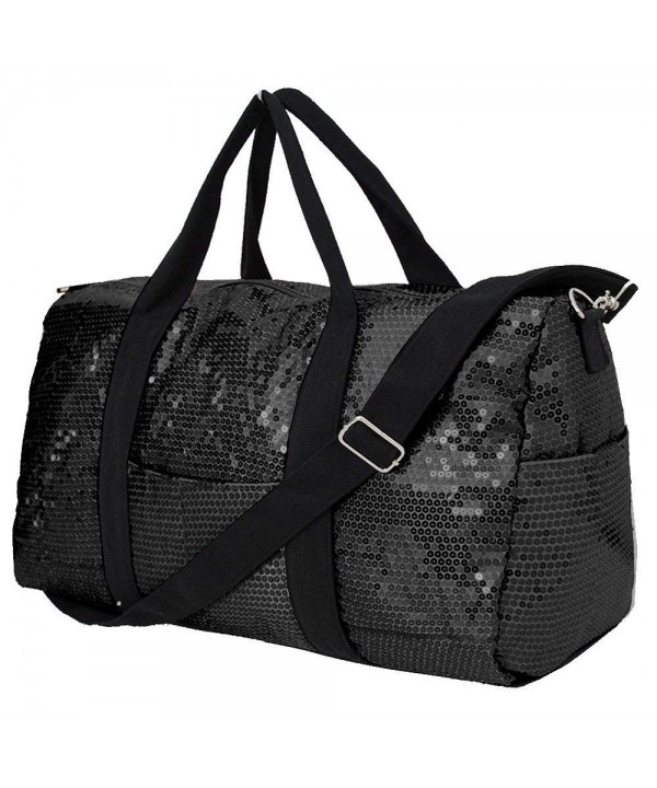 Adorable Sequin Large Duffle BLACK