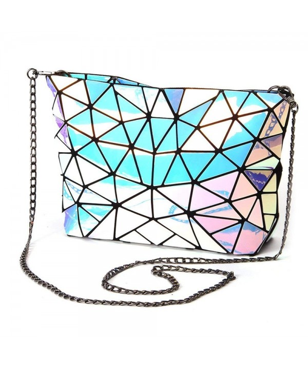 YSMYWM Holographic Geometric Shoulder Envelope