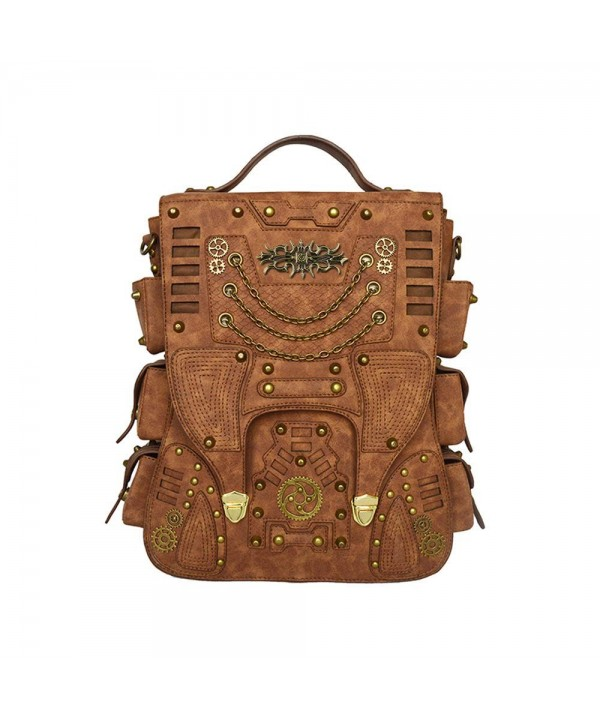 Steampunk Backpack Leather Vintage Fashion