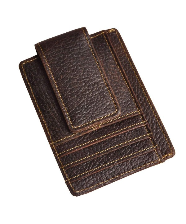 Leaokuu Genuine Leather Magnetic Pocket