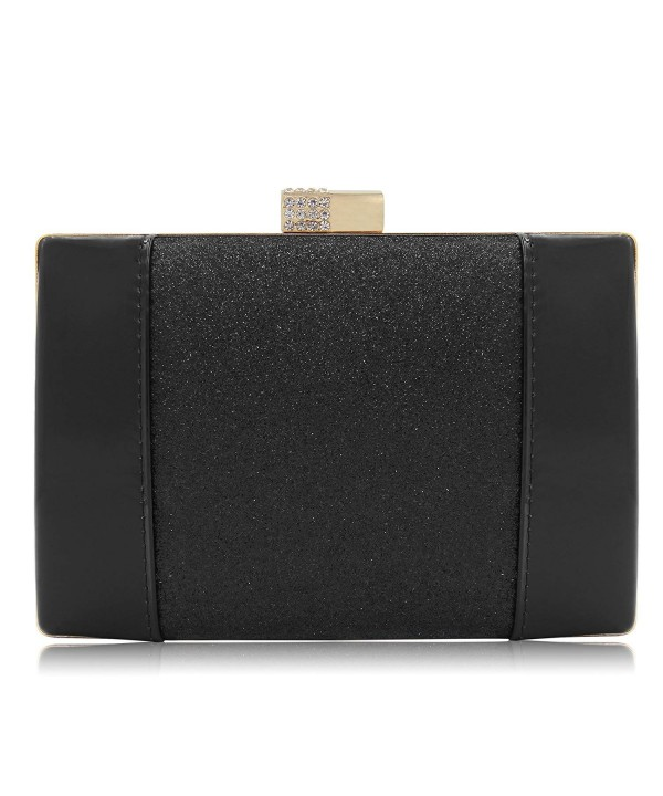 Clutches Glitter Crystal Leather Evening
