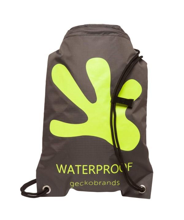 geckobrands Waterproof Drawstring Backpack Bright