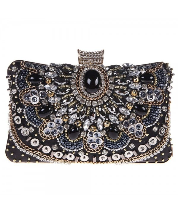 Fawziya Beaded Purse Handbags Women Black