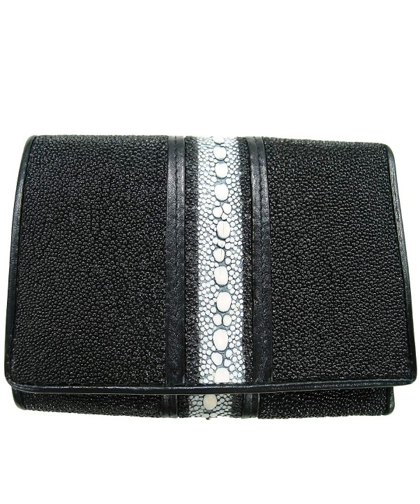 Genuine Stingray Leather Single Tri fold