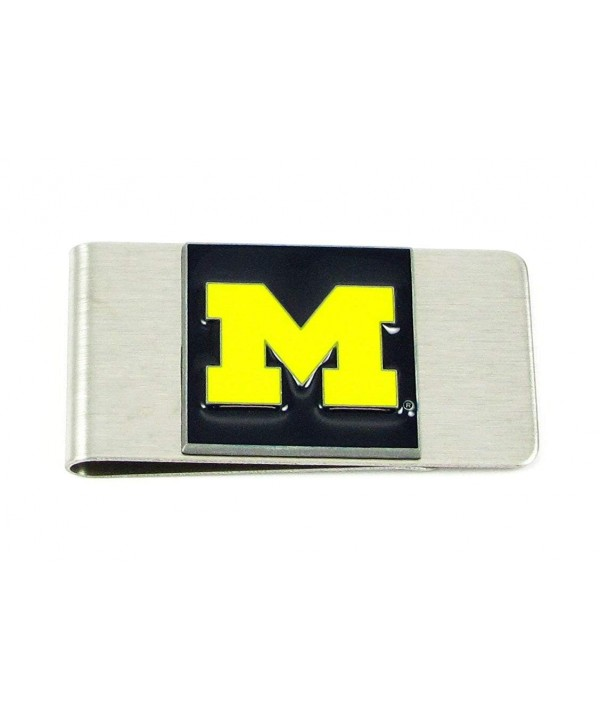 College Large Money Clip Wolverines