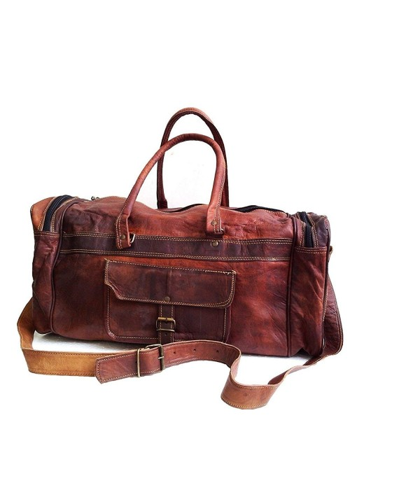 Leather duffel travel weekend luggage