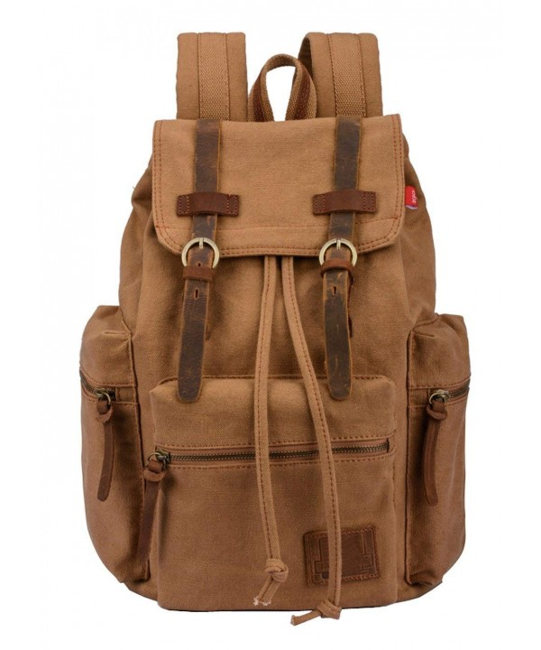 Vintage Canvas Backpack College Backpacks