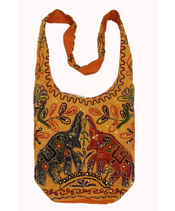Bohemian Elephant Handcrafted Embroidery Crossbody