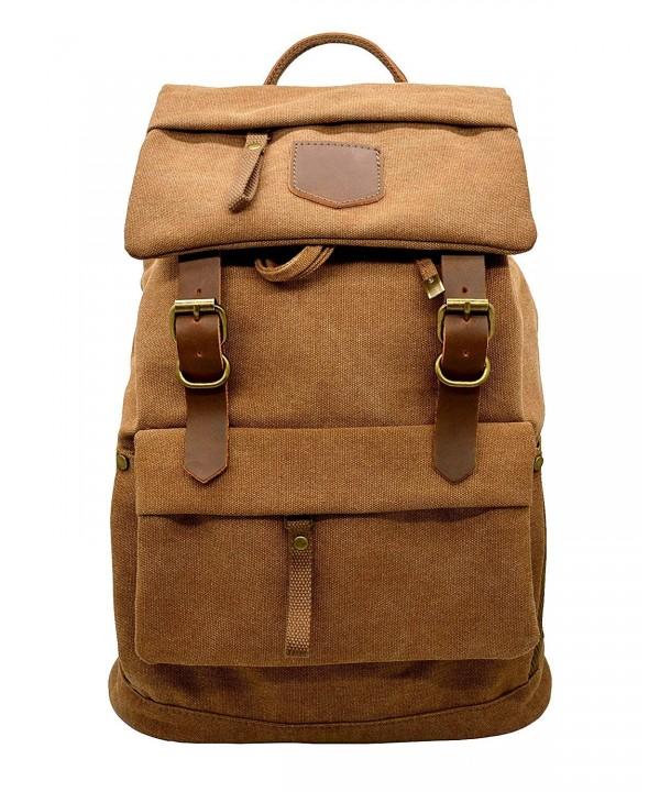 Canvas Vintage Leather Backpack Mountaineering