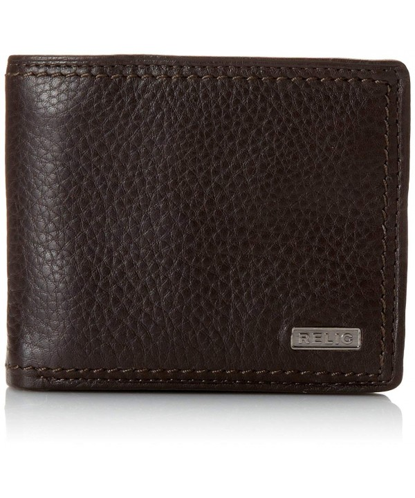 Relic Mens Traveler Wallet Brown