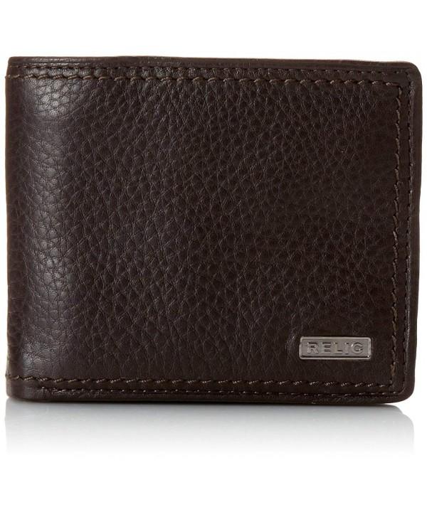 Relic Mens Traveler Wallet Brown