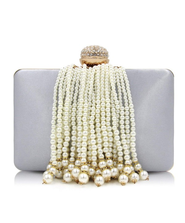 Milisente Clutches Beaded Tassel Evening