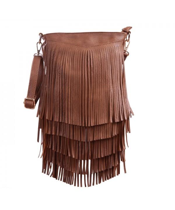 HDE Womens Leather Crossbody Handbag