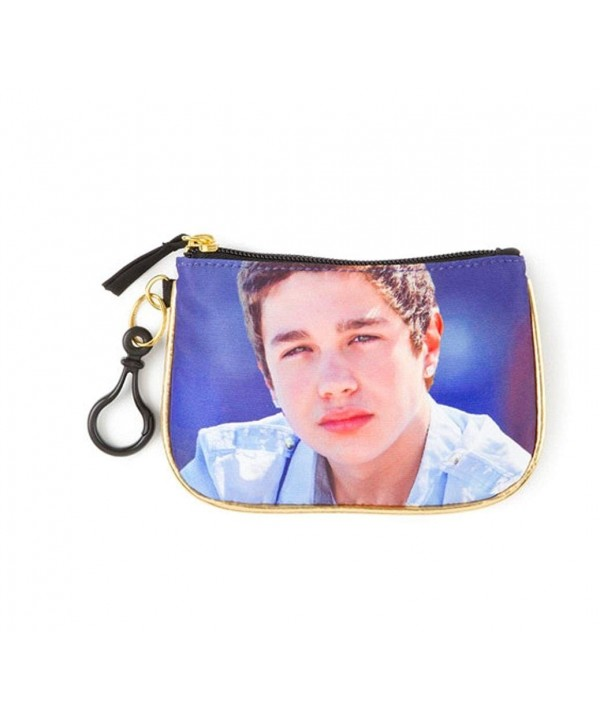 Austin Mahone Gold Blue Purse
