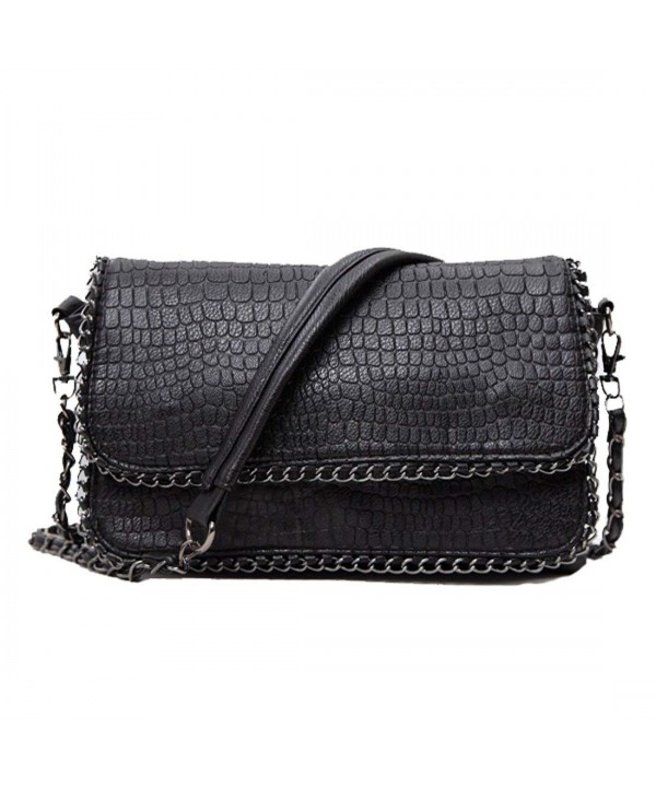 SEALINF Leather Shoulder Alligator Crossbody