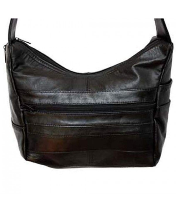 Silver Fever Leather Shoulder Handbag
