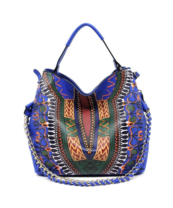 printed chain detail shoulder crossbody