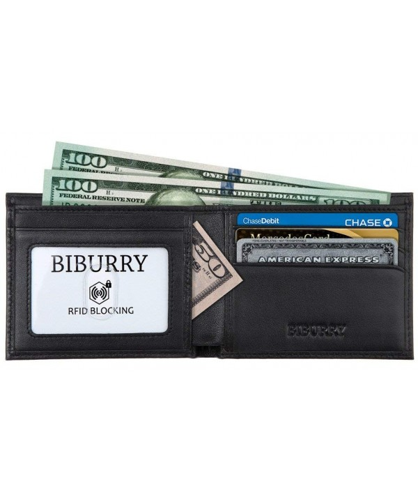 BIBURRY RFID Blocking Wallets Men