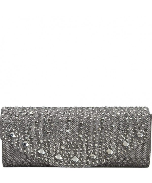 J Furmani Lily Clutch Pewter