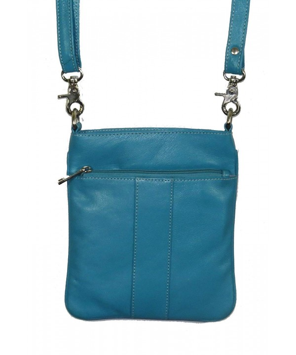 PieLino Genuine Crossbody 40113 Turquoise