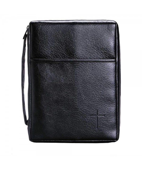 Embossed Pocket X Large Leather Handle