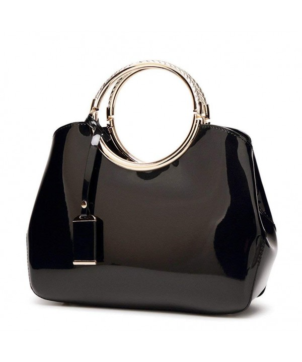Handbags Leather Shoulder Adjustable Black