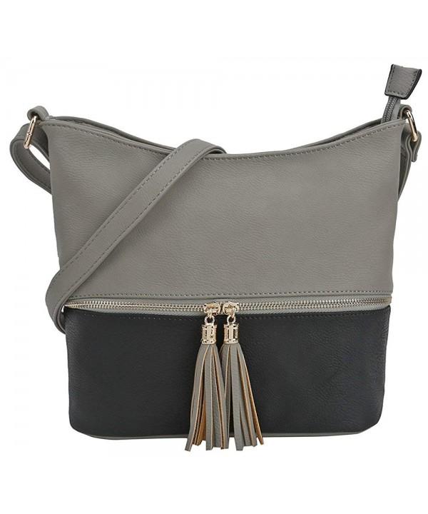 DELUXITY Medium Crossbody Tassel Zipper
