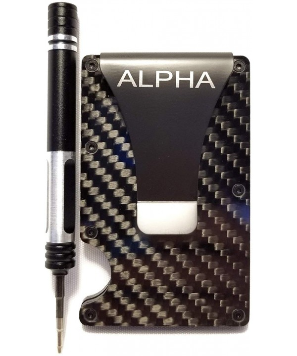 Alpha Wallet Minimalist Blocking aluminum