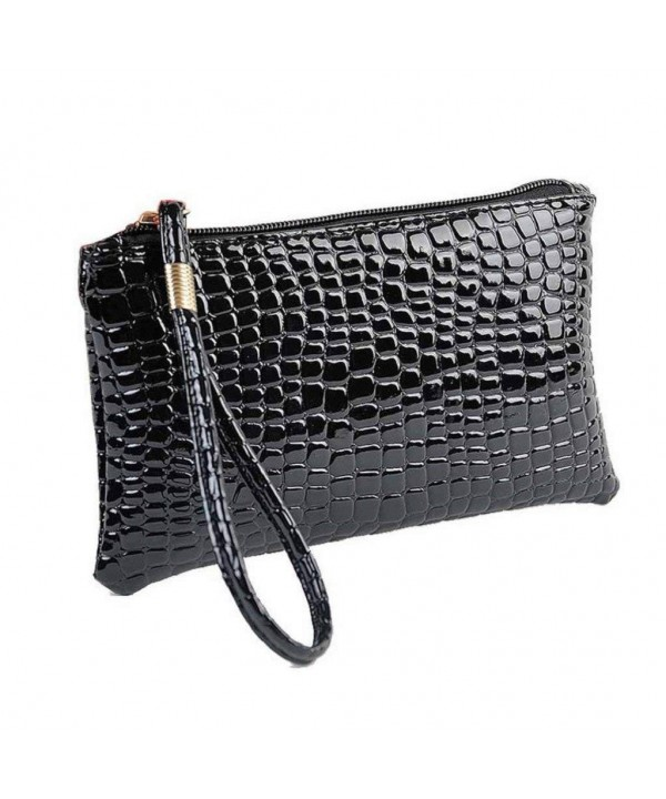 Creazrise Crocodile Leather Clutch Handbag