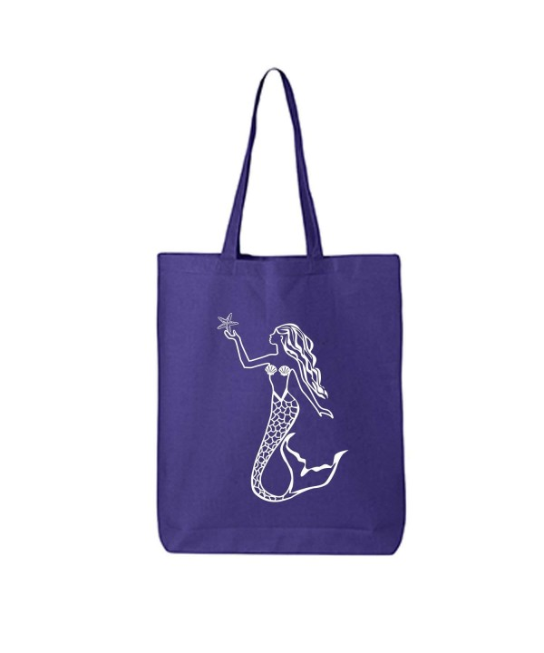 MERMAID Cotton Canvas Tote Bag