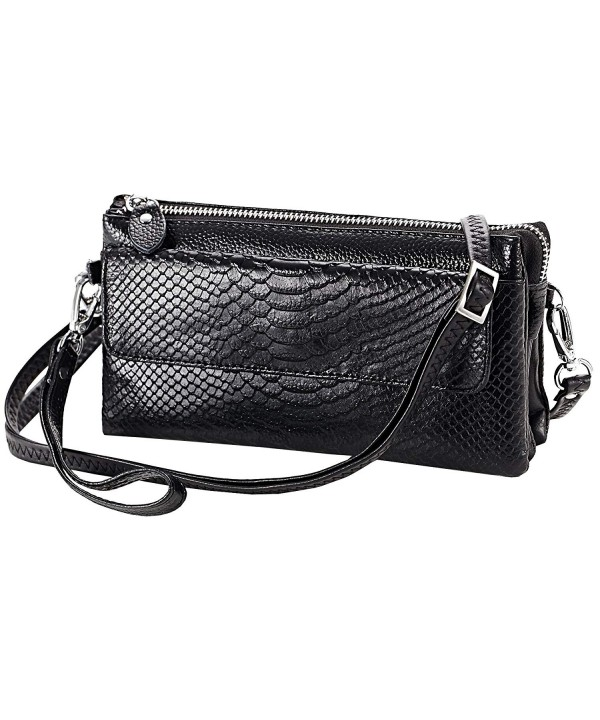 Genuine Crocodile Organizer Shoulder Crossbody